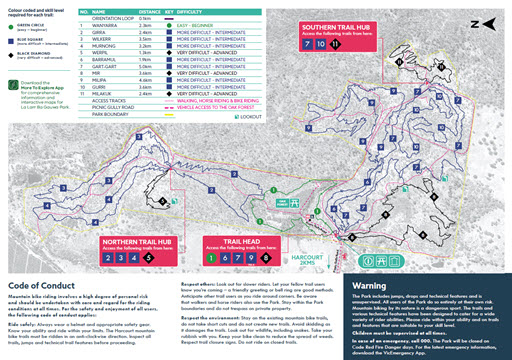 Harcourt Mountain Bike Trail Map thumbnail
