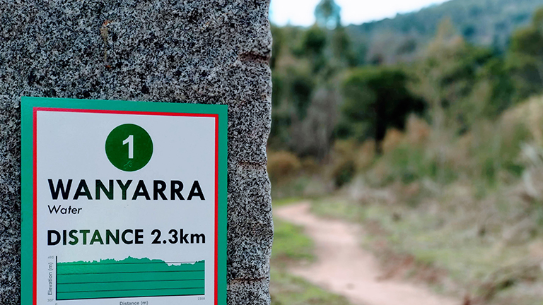 Wanyarra 01 trailstone